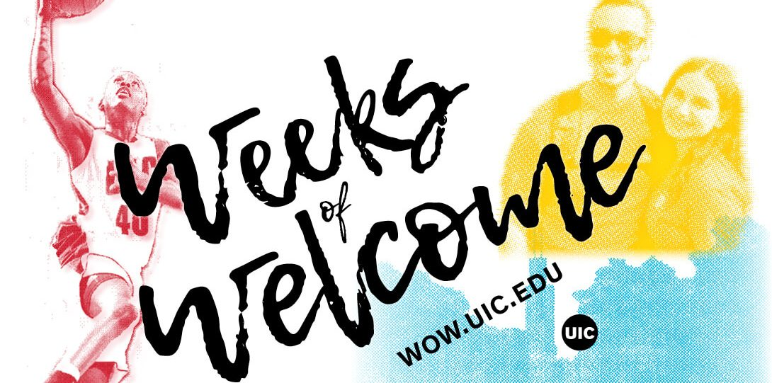 Colorful Weeks of Welcome Graphic of Students
